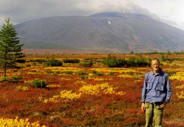 At the foot of Anaun volcano, September 1998. Photo by Valeri Vassilevich Yakubov.