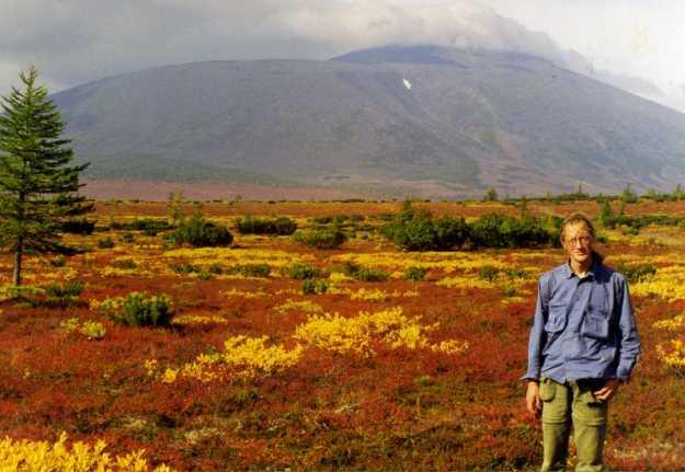 At the foot of Anaun volcano, September 1998. Photo by Valeri Vassilevich Yakubov.