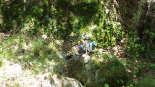 Right altitude, wrong vegetation. Libertad and Sarah keep their spirits up regardless.