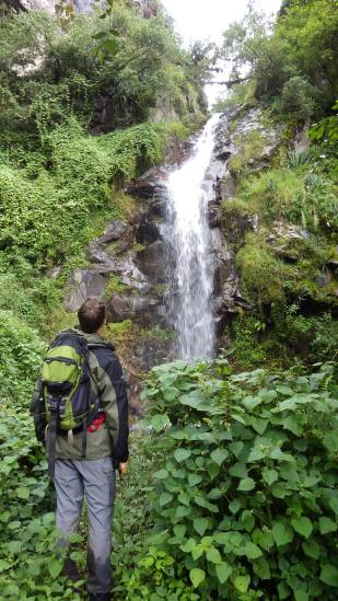 """Hiker: """"What a gorgeous waterfall!"""". Forest ecologist: """"How am I supposed to get up this gorge now?"""""""